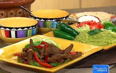 Receta de Fajitas de carne en la cocina de Karla