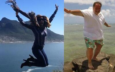 ¡Raúl y Lili saltan de felicidad en sus vacaciones!