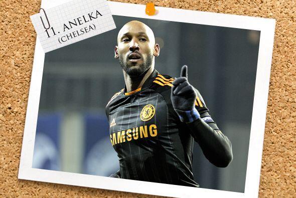 Y por último, el francés Nicolás Anelka, que marc&o...