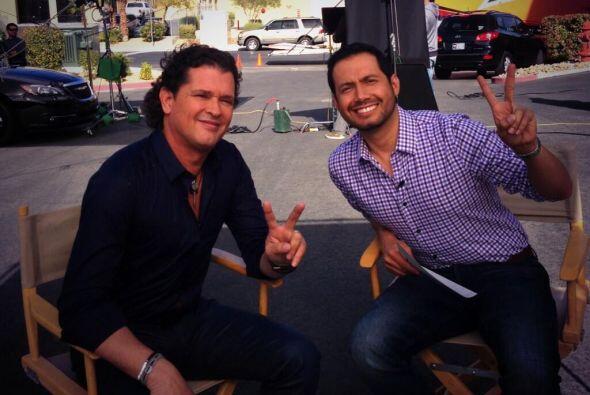 Luis Sandoval compartió una foto de la entrevista que le realiz&o...