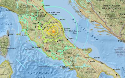 La zona central de Italia es sacudida por dos fuerte temblores a dos mes...