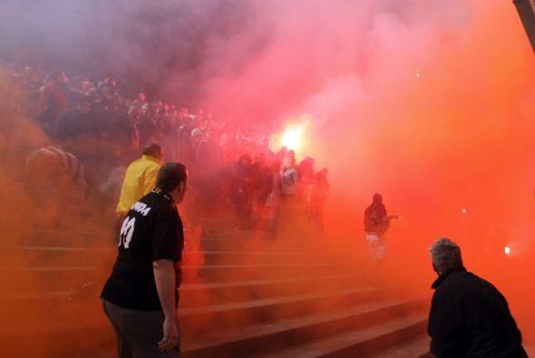 Los indignados también llegaron al estadio de Niza, pero lamentab...