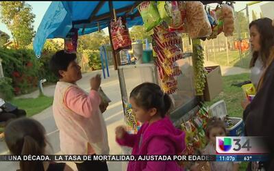 Defienden derechos de vendedores ambulantes en LA con arte