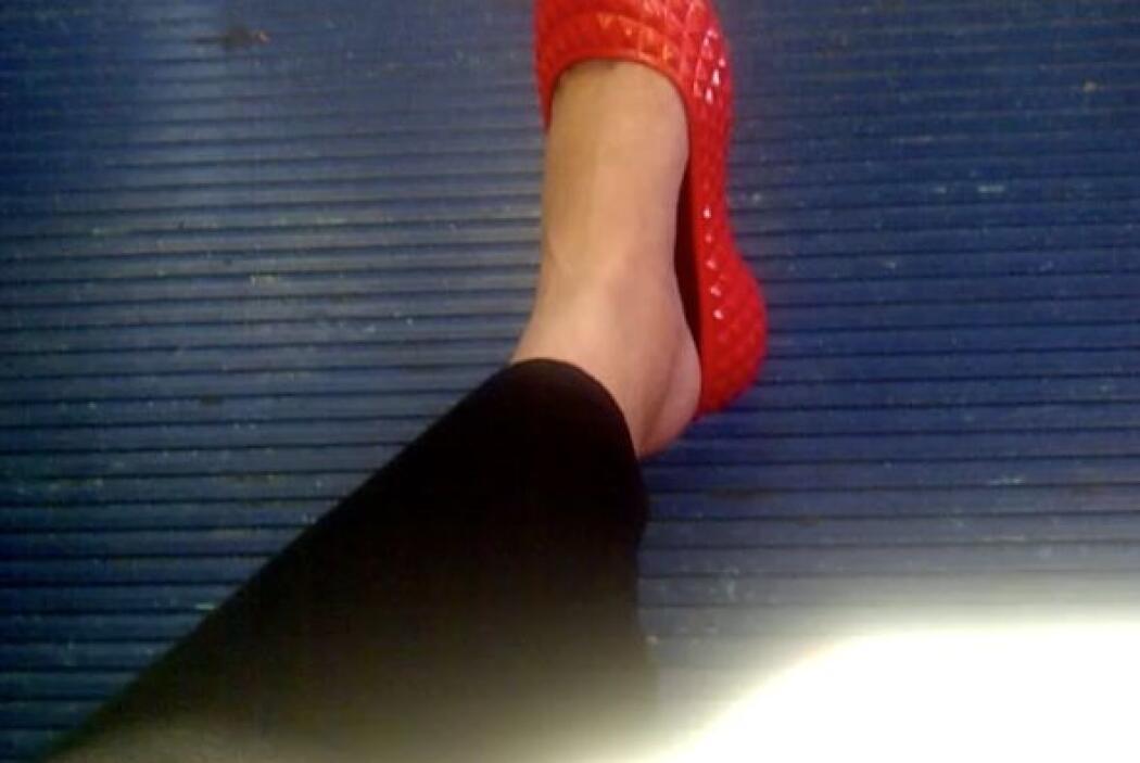 Y miren mis pies. La retención de líquido se había devorado mi tobillo.