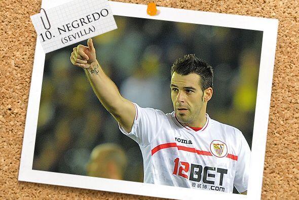 También tenemos a otro español, Alvaro Negredo, ariete del Sevilla y que...