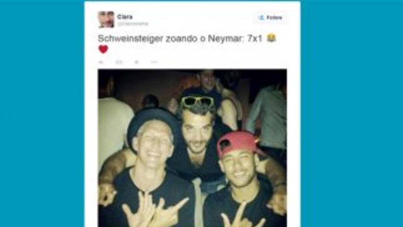 """Post de""""Schweinsteiger con Neymar. (Instagram)"""