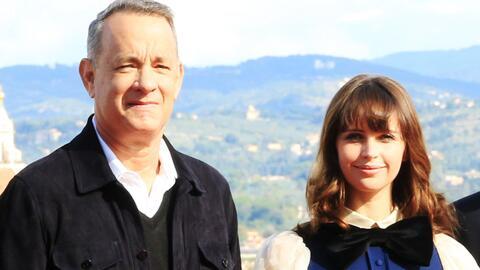 Tom Hanks y Felicity Jones recorrieron Italia contrarreloj en 'Inferno'