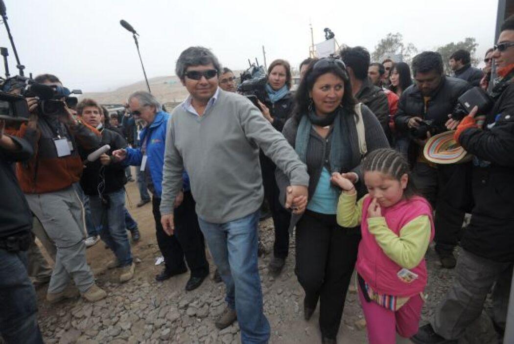 Aguilar es considerado un héroe, al igual que el resto de los 33 mineros...