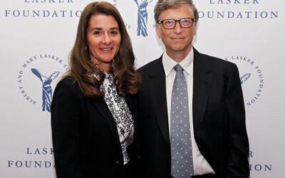Bill y Melinda Gates: El fundador de la empresa Microsoft y su esposa po...