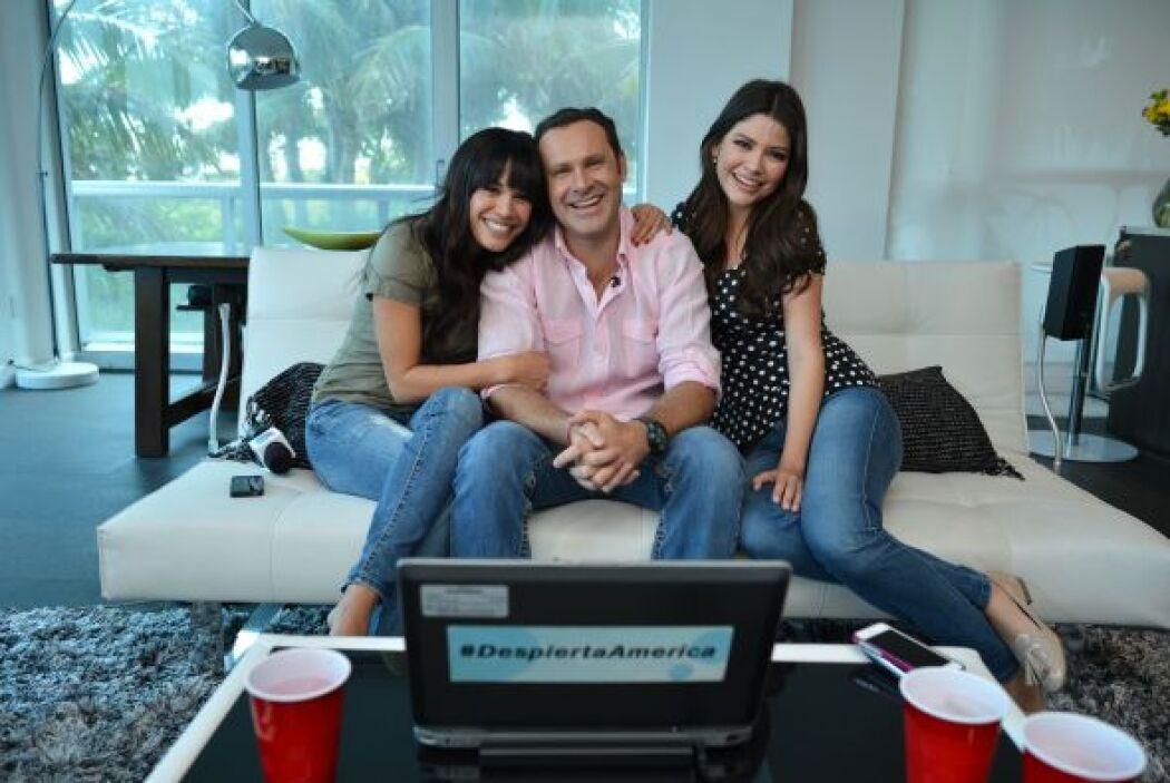 Karla y Ana Patricia fueron un gran apoyo para Alan.