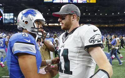Detroit y Matt Stafford le quitaron el invicto a Carson Wentz y sus Eagles