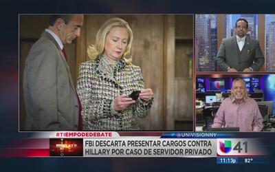 Tiempo de debate: ¿El FBI le dio una ayudita a Hillary Clinton?