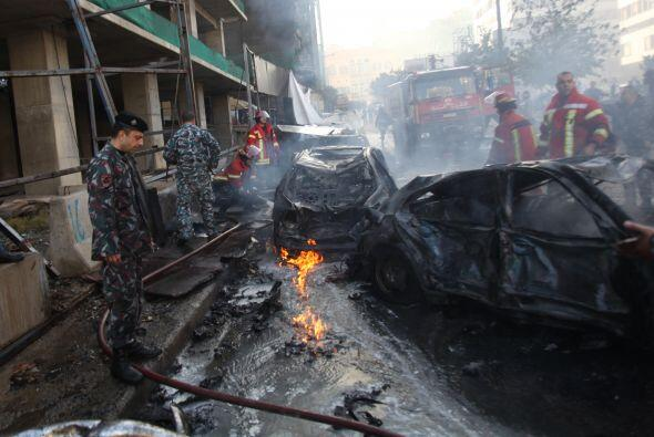El ataque ocurrió en el centro del distrito comercial de Beirut,...