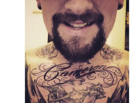 ¡Cuánto amor! Benji Madden se tatuó en el pecho el n...