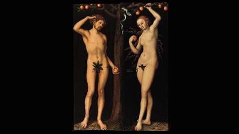'Adán' y 'Eva', obras del pintor renacentista Lucas Cranach.