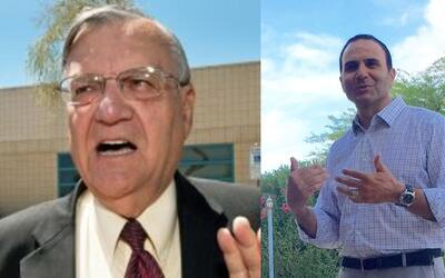 Joe Arpaio, sheriff del Condado Maricopa y Paul Penzone, candidato dem&o...