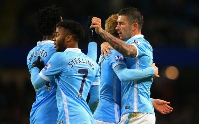 Manchester City celebra su triunfo sobre Southampton