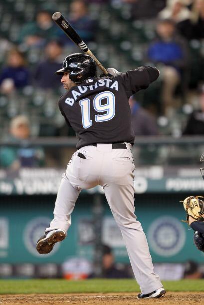 Bautista tuvo un promedio de .272 (6 en 22), con cuatro empujadas y dos...