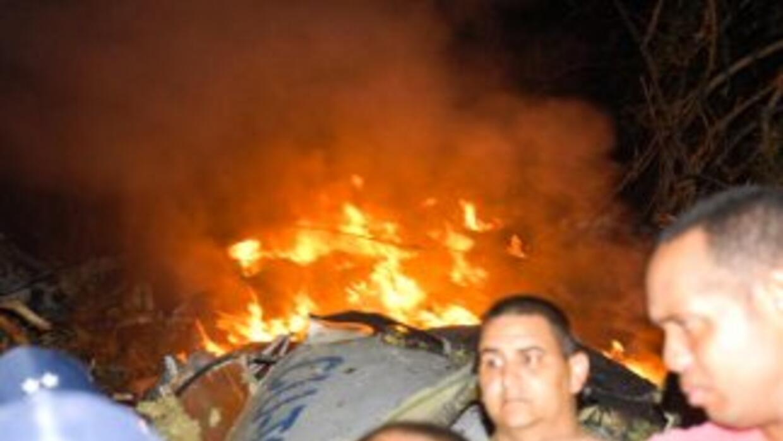 La aeronave se precipitó a tierra en la región de Guasimal, en la provin...