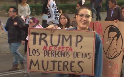 Manifestantes contra Trump y Peña Nieto tomaron las calles de la Ciudad...