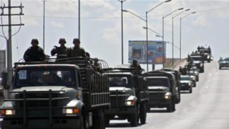 Ofensiva militar contra los cárteles de la droga.