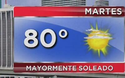 Tiempo seco y disminución del viento para este martes en Miami