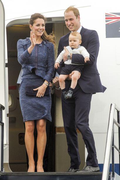 La familia real se dejó captar por las cámaras algunos minutos antes de...