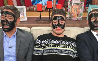 Mascarilla Alan, johnny y William Despierta América