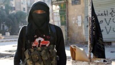 Un combatiente del Frente Al-Nusra en Siria.