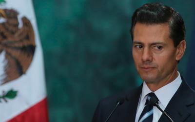 El presidente Enrique Peña Nieto durante una visita oficial en el...