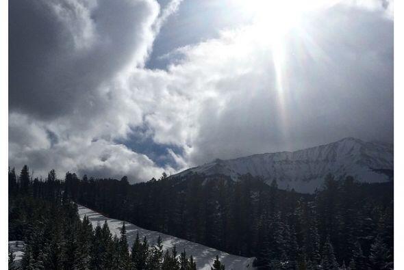 Kim presumió la hermosa vista desde las montañas.