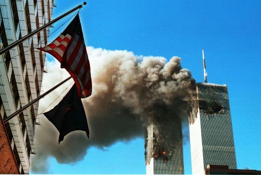 11 de septiembre de 2001- Miembros de la red yihadista Al Qaeda secuestr...