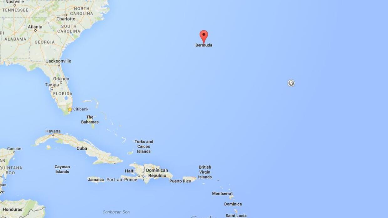 Mapa Bermuda