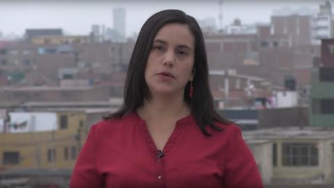 Verónika Mendoza, excandidata del izquiedista Frente Popular de P...
