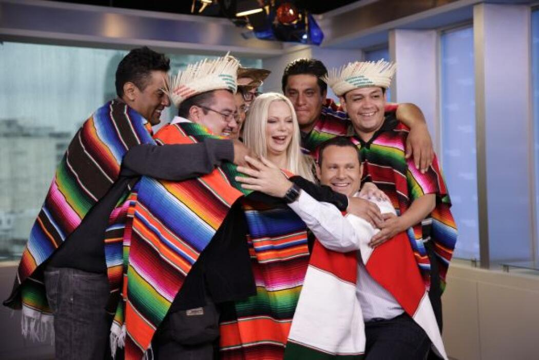 """Un abrazo de los """"paparrines"""" con sabor a México."""