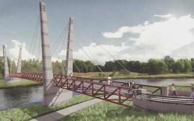 Empieza la construcción del puente peatonal en Mason Park
