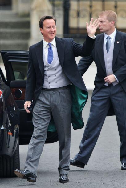 También llegó a tiempo el Primer Ministro, David Cameron.