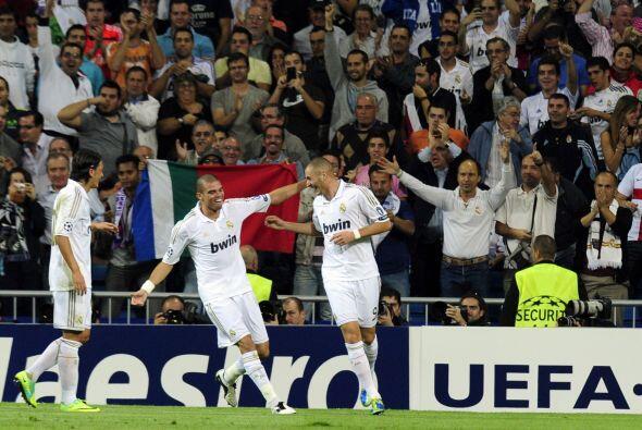 Era el 1 a 0 para el equipo blanco y fiesta en Madrid.