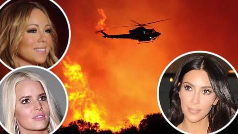 Incendios forestales en Calabasas ponen casas de famosos en riesgo