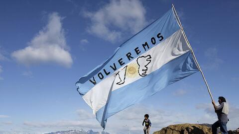 Veteranos de la guerra en las Malvinas en una conmemoración del c...