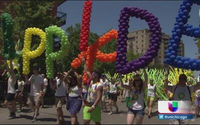 Ruta del desfile del orgullo gay en Chicago