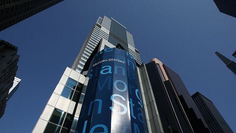 La sede del banco de inversión Morgan Stanley en Times Square, Nu...