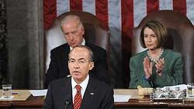 Calderón llevó sus pedidos y posturas a sesión conjunta del Congreso de...