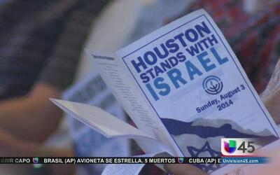 Houston pide la paz en Israel