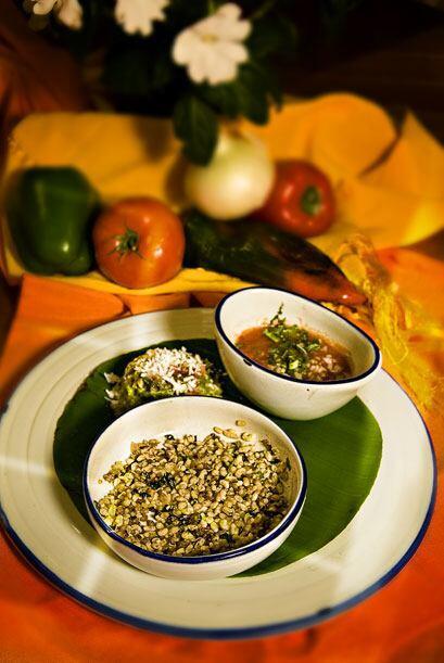 Escamoles (huevos de horminga), todo un manjar de la cocina mexicana.