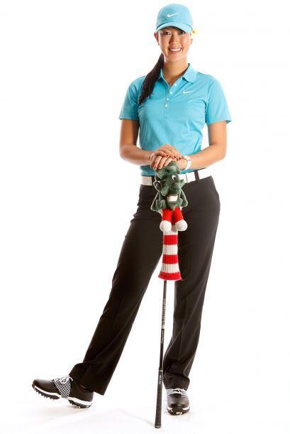 Todos los expertos del golf coincidían en que esta linda chica te...