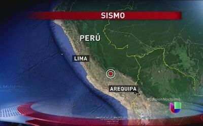 Un sismo de magnitud 6.6 sacudió Perú