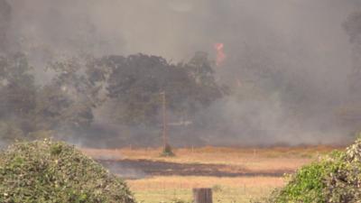 El incendio Hidden Pines en imágenes