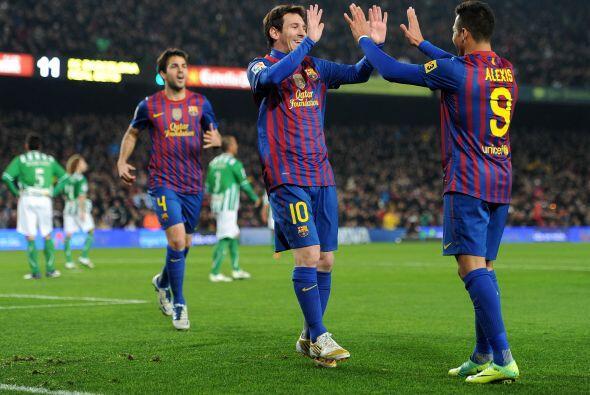 Y más tarde fue el turno de Messi que aumentó la ventaja para los suyos.