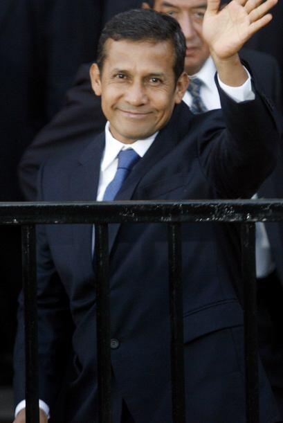 En su discurso el ex militar izquierdista Ollanta Humala prometió un gob...